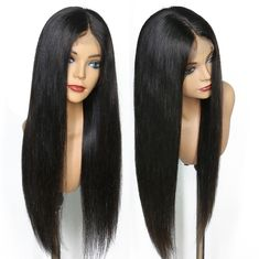 Good Quality 100% Brazilian Virgin Hair & 150% Density Brazilian Full Lace Human Hair Wigs With Baby Hair For Black Women on sale