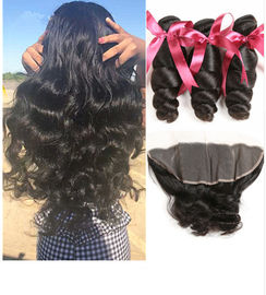 Good Quality 100% Brazilian Virgin Hair & No Tangle Loose Wave 1B 100 Virgin Human Hair Extensions 100 Grams / Piece on sale