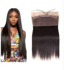 Good Quality 100% Brazilian Virgin Hair & 360 Lace Frontal Closure 100% Real Human Hair Extensions Straight For Ladys on sale