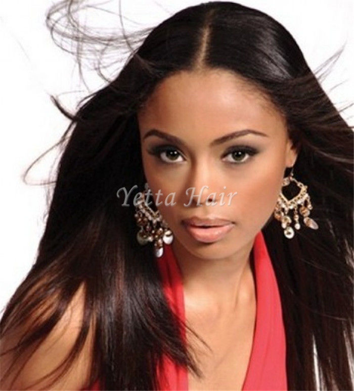 Soft Smooth Silky Straight Brazilian Hair Weave Double Wefted Human