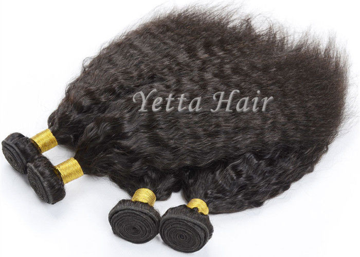 Fashionable Kinky Straight Peruvian Human Hair Weave for Black Women