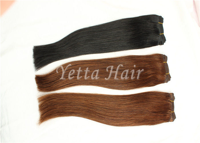 Chocolate Unprocessed Virgin Human Hair Extensions No Nits And No Lice