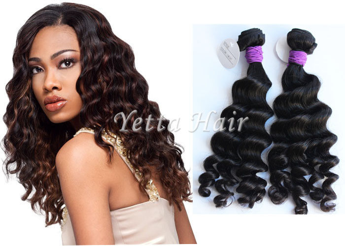 Loose Curly Wet And Wavy Weave Peruvian Virgin Human Hair
