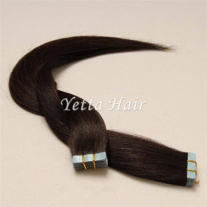 Chocolate Pre Bonded Human Hair Extensions Simplicity Tape In Hair