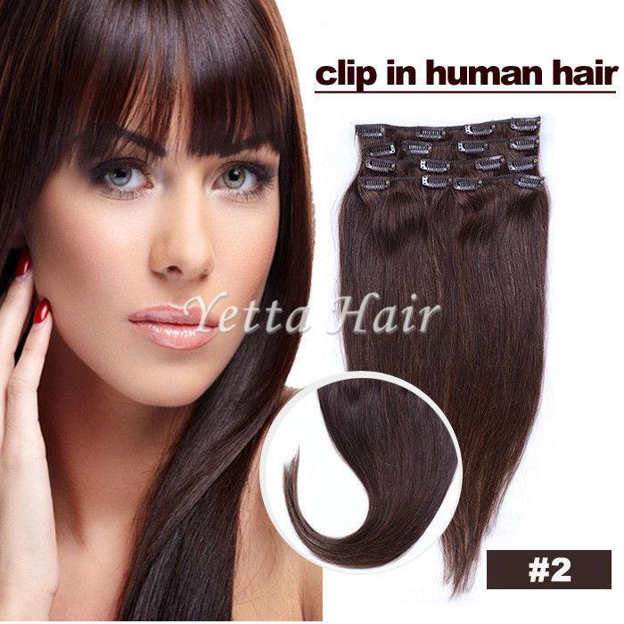 Smooth Soft Pre Bonded Dip Dye Hair Extensions Dark Brown Virgin Hair