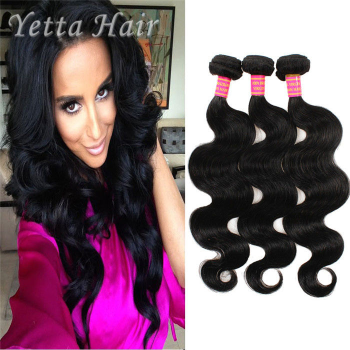 Natural Color 6a Virgin Hair Indian Body Wave Hair Extensions Large