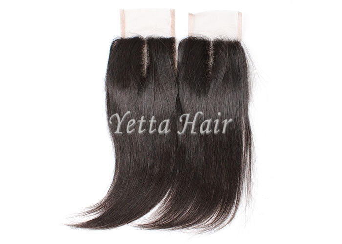 Density 130% Hand Tied Virgin Hair Lace Closure Long Lasting With Proper Care