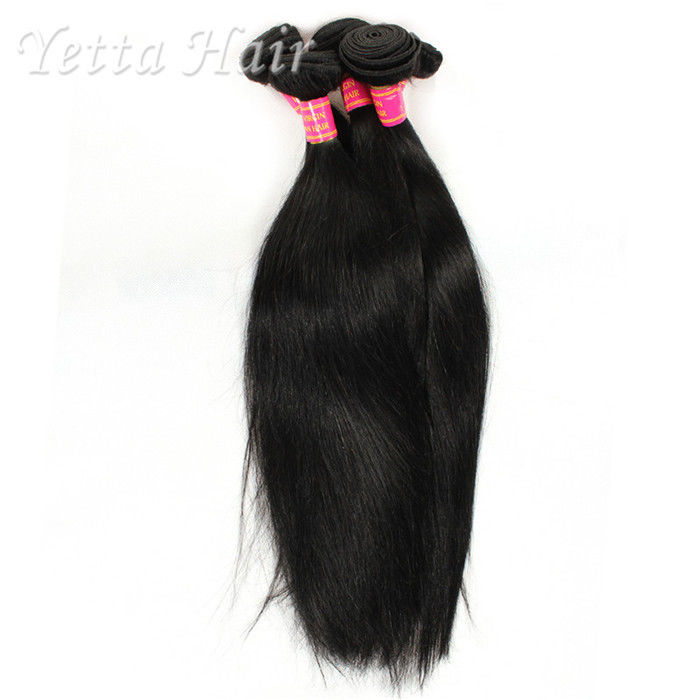Soft Black 6a Virgin Brazilian Hair Can Be Dyed Any Color And Ironed
