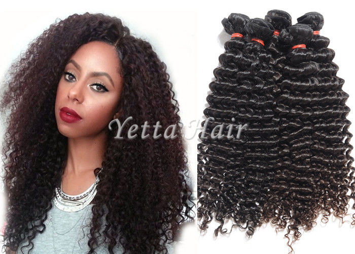 Deep Curly Long Brazilian Human Hair Weave Professional No Chemical
