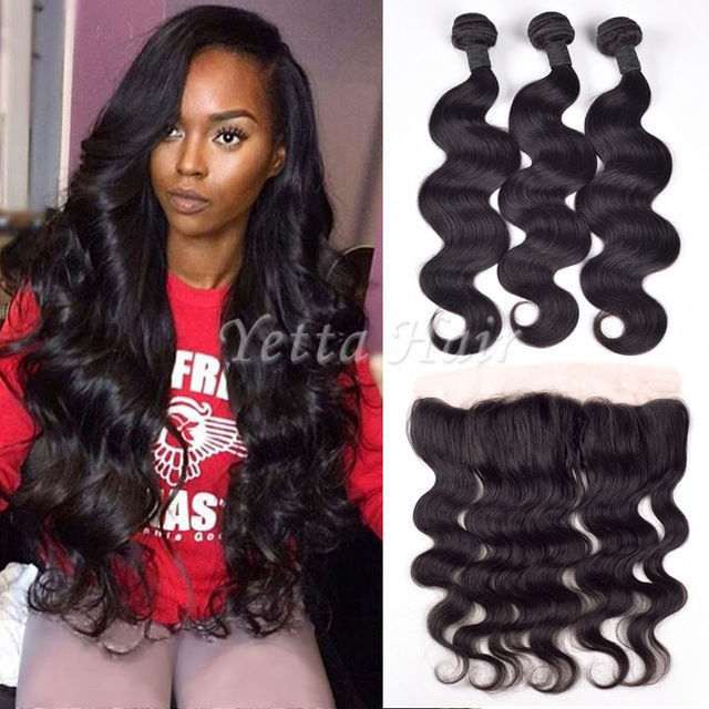 Malaysian Remy Hair Weave Malaysian Hair Extensions With 13 X 4 Lace