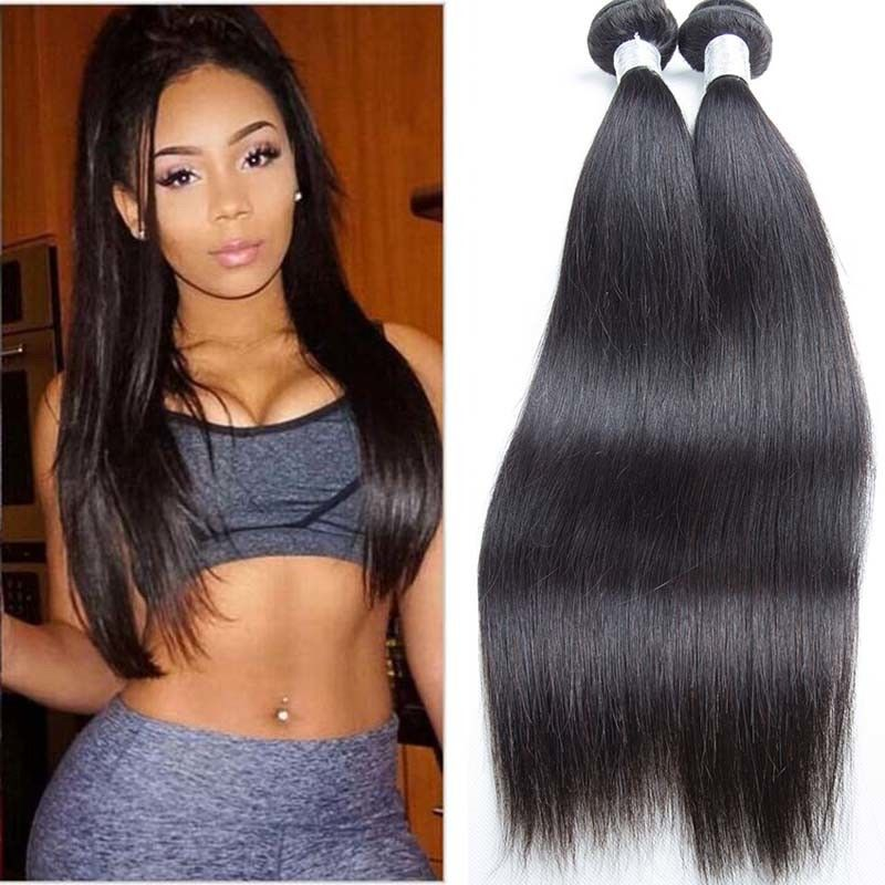 Unprocessed Silky Straight Peruvian Human Hair Weave No Terrible Smell