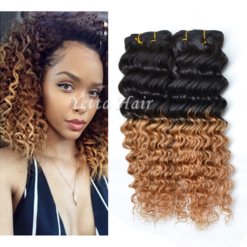 Grade real ombre human hair extensions deep wave ombre real hair 7a grade real ombre human hair extensions deep wave ombre real hair extensions two tone pmusecretfo Choice Image