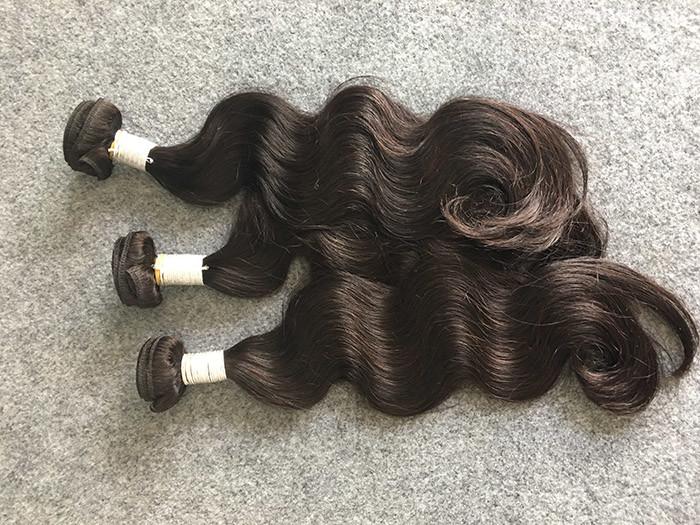 Real Peruvian Human Hair Extensions Full And Thick Hair Bundles None