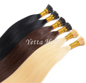 China Pure 24 Inch Pre Bonded I Tip Hair Extensions With Soft And Silky factory