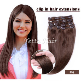 China Brazilian pre bonded remy human hair extensions / Clipped in Hair Extensions factory