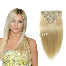 China Brazilian Straight Clip In Pre Bonded Hair Extensions No Any Bad Smell factory