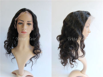 Tangle Free Pure Full Lace Human Hair Wigs Body Wave Density 150%