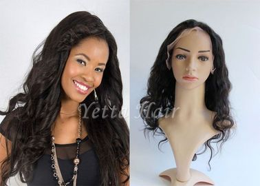 Pure Long Lasting  Brazilian Full Lace Human Hair Wigs Wet And Wavy
