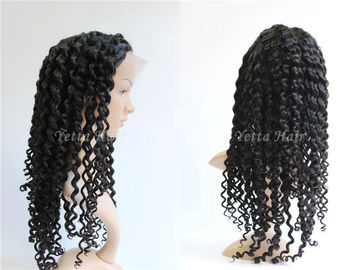 Healthy Deep Wave Curly Full Lace Human Hair Wigs For Black Women