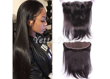 13'' X 4'' Ear To Ear Lace Frontal Closure Virgin Hair / Silky Straight Human Hair