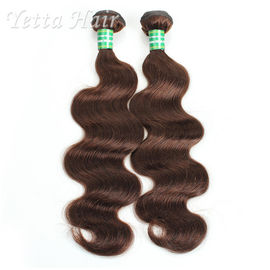 China Dark Brown Real Body Wave Human Hair Weave , Natural Remy Curly Hair Extensions factory