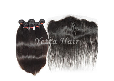 China Lace Frontal Closure Brazilian Straight Hair Weave Soft And Luster factory