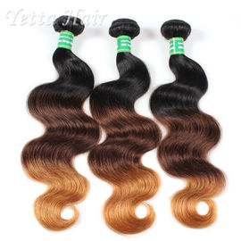 3 Tone Color Real Hair Ombre Extensions With No tangle No Shedding