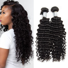 Peruvian Deep Wave Hair 100% Human Hair Weave Peruvian Curly Hair Extensions