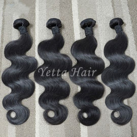 Unprocessed Virgin Malaysian Hair Extensions Body Wave Hair Weave 1B#