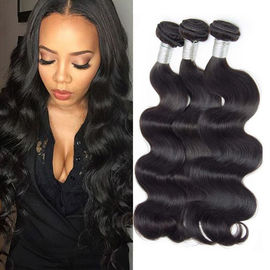 3 Bundles 100 Peruvian Virgin Remy Hair , Peruvian Weaving Hair For Girl