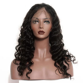 China 150 Density Braided Full Lace Human Hair Wigs Brazilian Deep Wave factory
