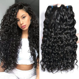 Water Wave 100 Virgian Brazilian Hair Extensions 3 Bundles Natural Color