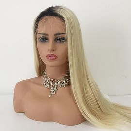 China 1b / 613 Blonde Color Straight Wig Ombre Hair Extensions / 100 Real Human Hair factory