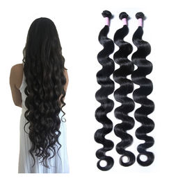China 30 Inch Body Wave Long Indian Human Hair Weave 100 Grams / Piece factory