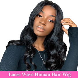 "China 100% Raw Unprocessed Human Hair Loose Wave Full Lace Wig 10""-28"" Length factory"