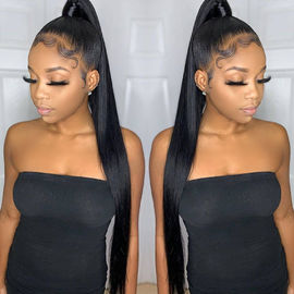 China Straight Human Hair Wigs Full Lace Brazilian Hair Weave For Black Women factory