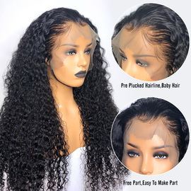 China 10A Grade 100% Brazilian Full Lace Human Hair Wigs Natural Hairline Deep Wave factory