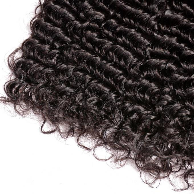 Double Weft Peruvian Human Hair Weave 10 Inch - 30 Inch Natural Curly